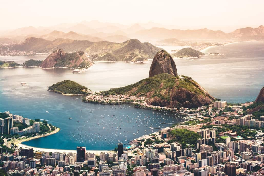 skyview of rio de janiero brazil