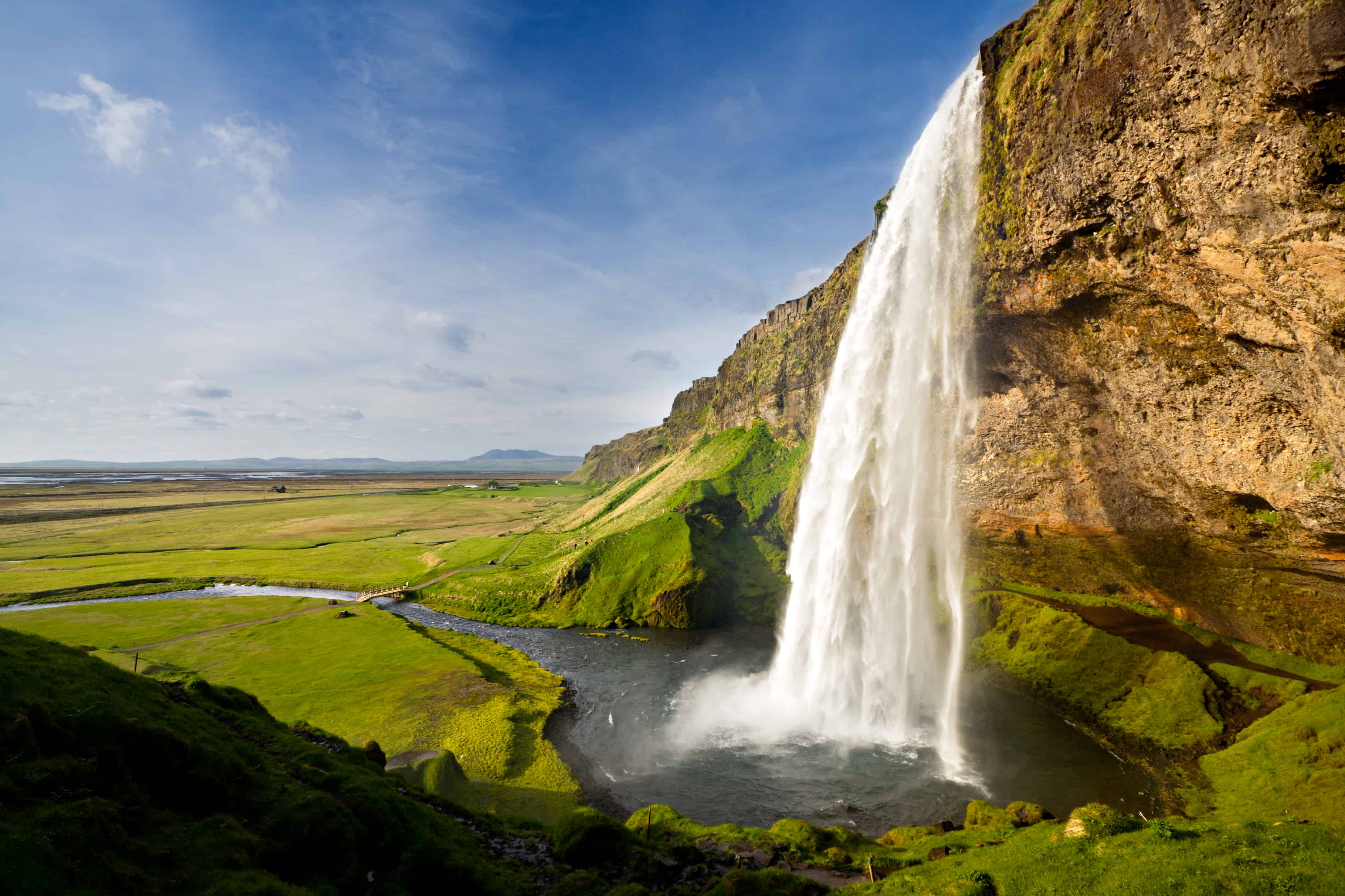 waterfalls in Seljalandsfoss, Iceland