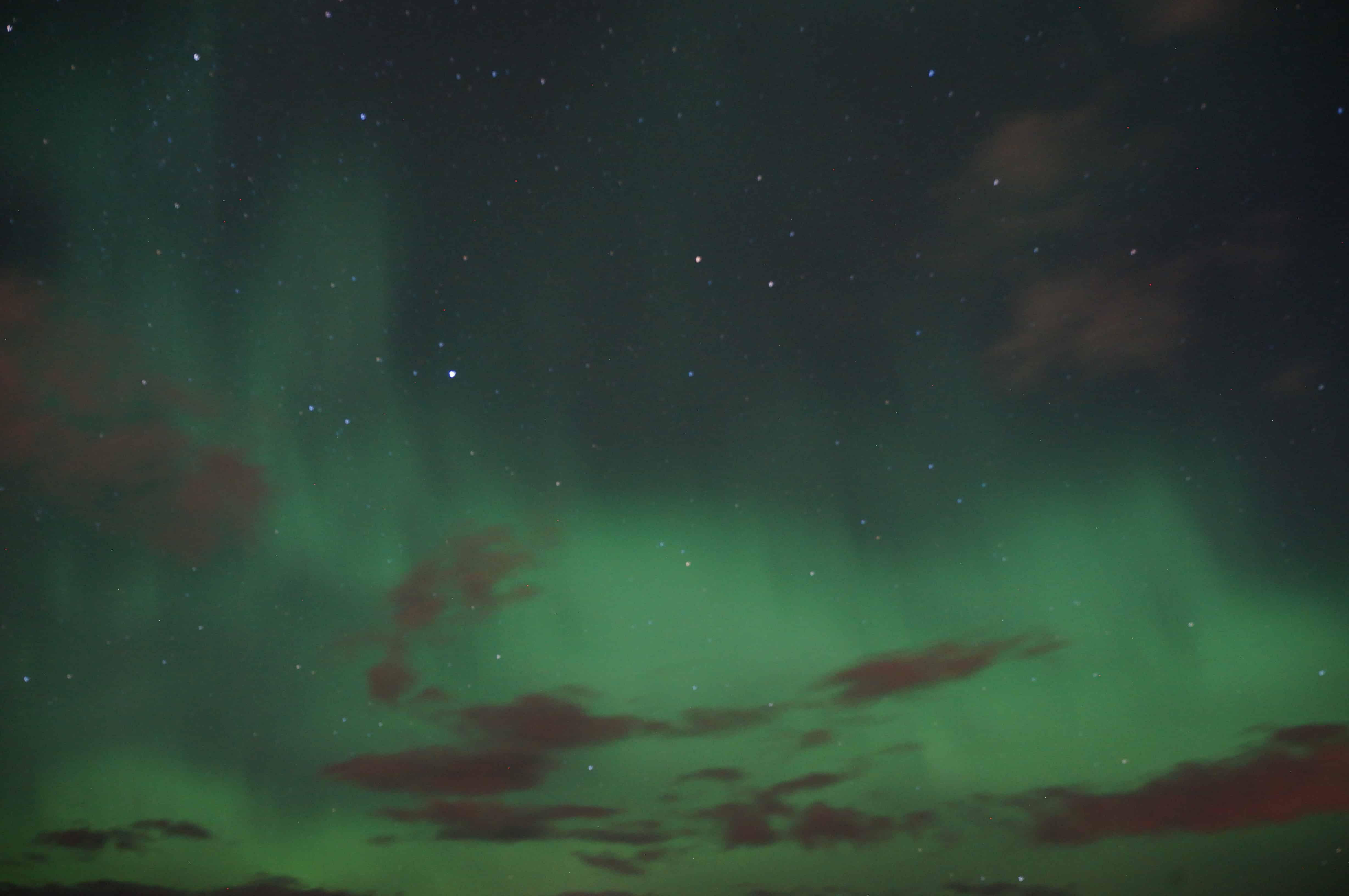 northern lights photo in iceland